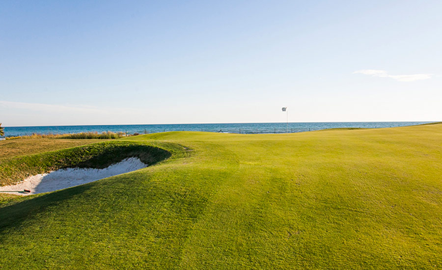 club de golf terramar campo con vistas al mar hoyo 3