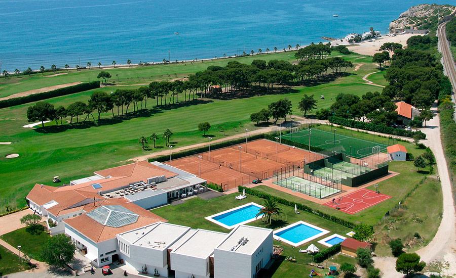 club de golf terramar vista aerea instalaciones y mar