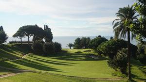 campo de golf llavaneras vistas al mar mediterraneo