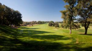 campo de golf montanya arboles